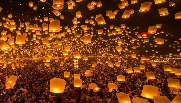 Festival das Lanternas - Tailândia